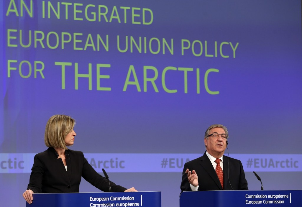 Federica Mogherini, on the left, and Karmenu Vella