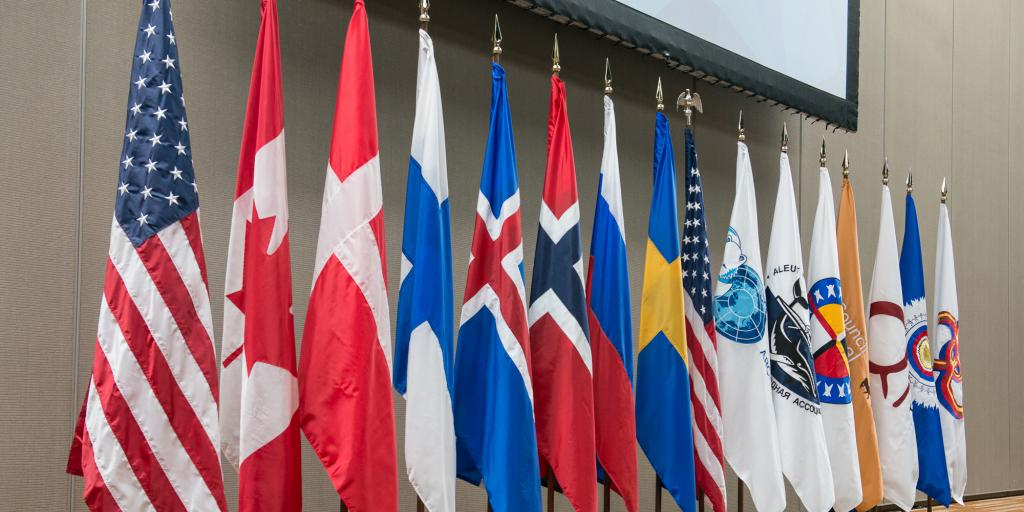 Arktisk-råd-alle-flaggene-Arctic-Council-Secretariat-Linnea-Nordström